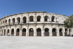 The city of Nimes Royalty Free Stock Image