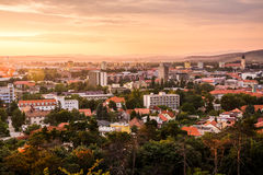 City of Nitra from Above at Sunset royalty free stock photo