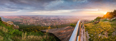 City of Nitra from Above at Sunset Stock Images