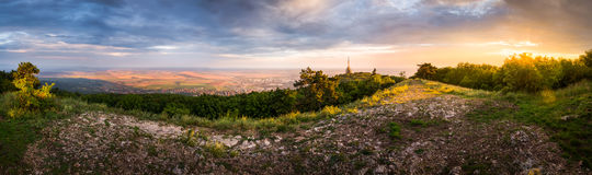 City of Nitra with Path to Transmitter royalty free stock photography