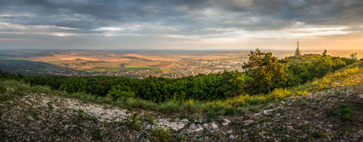 City of Nitra with Transmitter from Above Royalty Free Stock Photography
