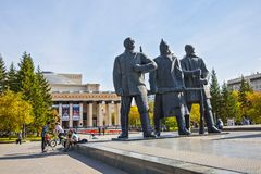 The building of the Novosibirsk state academic theatre of Opera Stock Image