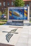 Mosaic panno on the Avenue Marshal of aviation Alexander Ivanovi Stock Photo