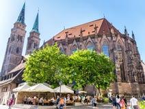 St Lorenz Church in Nuremberg royalty free stock photo