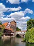 Nuremberg. The city of Nuremberg (Nürnberg) and the river Pegnitz  in the state of Bavaria, Germany Stock Photography