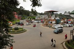 The city Nuwara Eliya in Sri Lanka. The city of  Nuwara Eliya in Sri Lanka Royalty Free Stock Image