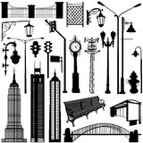 City objects vector vector illustration