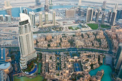 City from the observation deck Burj Khalifa Stock Photo