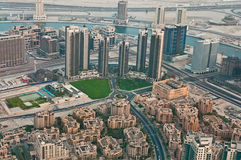 City from the observation deck Burj Khalifa Stock Photography