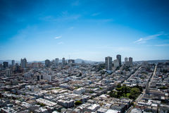 City and Ocean View Landscape Royalty Free Stock Photography