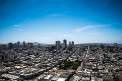City and Ocean View Landscape Royalty Free Stock Photo