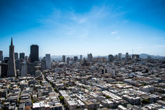 City and Ocean View Landscape Stock Photos