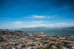 City and Ocean View Landscape Royalty Free Stock Image