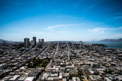 City and Ocean View Landscape Stock Images