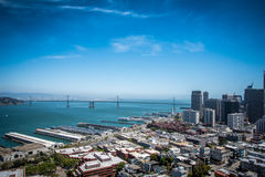 City and Ocean View Landscape Royalty Free Stock Photos