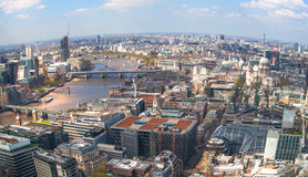 City Of London Panorama St. Paul Cathedral And Westminster Side Of London Stock Images