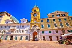 Free City Of Rijeka Main Square And Clock Tower View Stock Images - 102350724