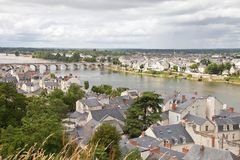 City Of Saumur In France Stock Photography