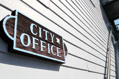 City Office Sign Royalty Free Stock Images