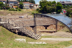 City of Ohrid, Antique theatre Royalty Free Stock Photography