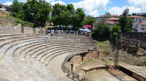 City of Ohrid, Antique theatre Stock Photography