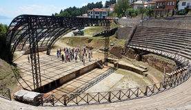 City of Ohrid, Antique theatre Royalty Free Stock Images