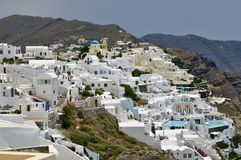 City of Oia on the island of Santorini stock photo