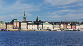 city old panorama picture stockholm sweden town φιλμ μικρού μήκους
