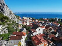 City of Omis. In Croatia with beautiful summer weather stock image