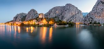City of Omis landscape, Croatia stock photos