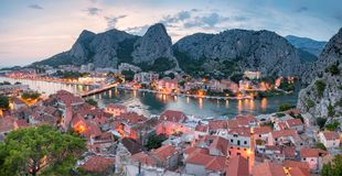 City of Omis landscape, Croatia royalty free stock photos