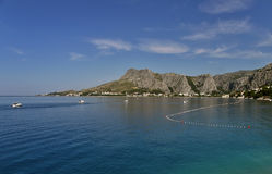 City of Omis (view from the sea) 1 stock photos