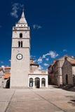 The city Omisalj. The coast of city Omisalj - Croatia royalty free stock image