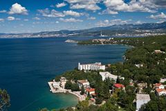 The city Omisalj. The coast of city Omisalj - Croatia Stock Photos