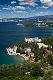 The city Omisalj. The coast of city Omisalj - Croatia Stock Photo