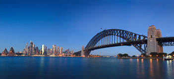 City Opera Bridge Sunrise Pan Royalty Free Stock Images