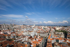 City of Oporto in Portugal from Above Royalty Free Stock Images