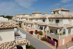 City of Orihuela Costa, Spain. Residential complex in Orihuela Costa, province of Alicante, Spain Royalty Free Stock Image