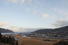The City Of Orkanger Stock Photo