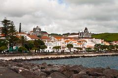 The city of Orta on island Fajal Stock Image