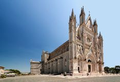City Orvieto - medieval Cathedral Royalty Free Stock Images