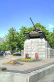 City Oryol. Monument to the tankers World Square royalty free stock image