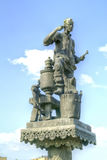 City Oryol. Sculptures of personages of the writer Nikolai Leskov royalty free stock images