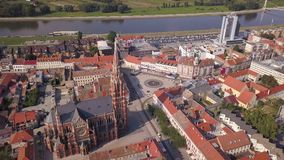 City of Osijek Cathedral from the sky