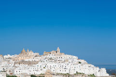 The city of Ostuni royalty free stock image