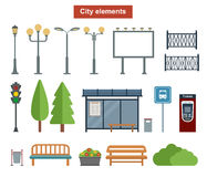 City and outdoor elements for construction of landscapes, Royalty Free Stock Photography