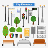 City and outdoor elements Stock Photo