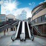 City outdoor escalator Stock Photos