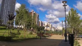 City, outdoor, park, tree, kiev, architecture, stock footage