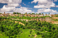 City over a cliff in Tuscany, Bagnoregio Stock Photography